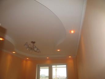 Гипсокартонные потолки подсветкой