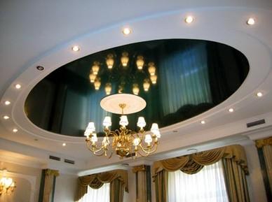 Дизайн гостинной потолки