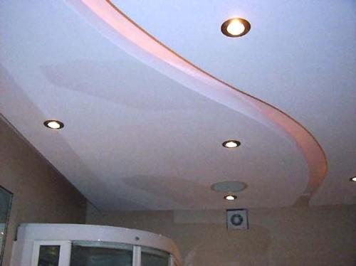 Дизайн навесных потолков в фото